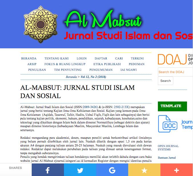 Jurnal Al Mabsut